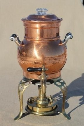 Bronze coffee maker