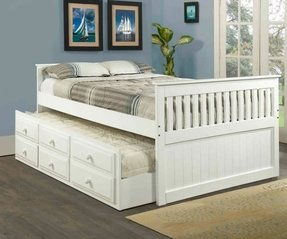 Captains trundle bed with storage 2