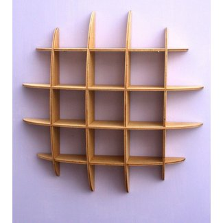 Cd Storage Wall Mounted Retro Style Wooden Rack 33c