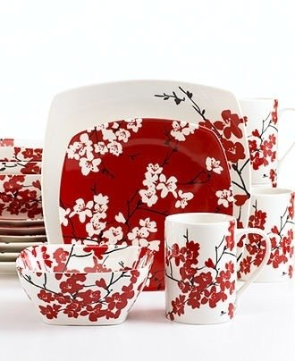 Cherry dining set  sc 1 st  Foter & Square Casual Dinnerware Sets - Foter