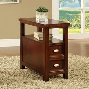 Cherry end tables with drawers
