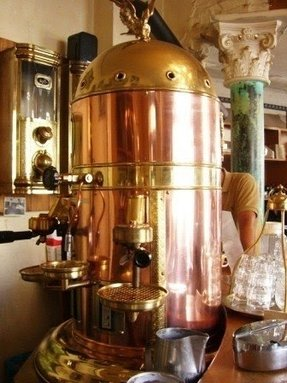 Copper colored coffee maker