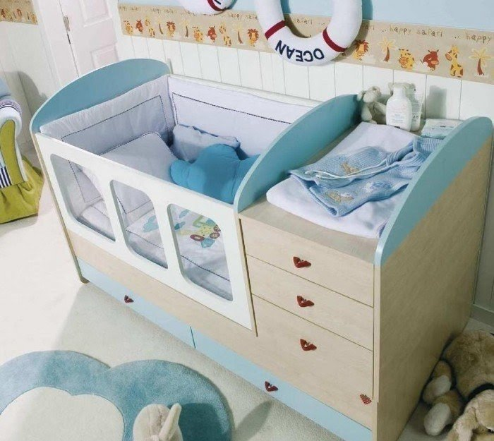 Cribs with storage 14