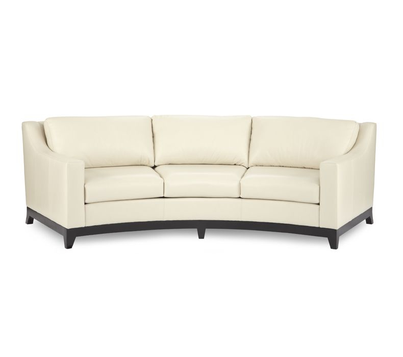 Curved Leather Sofa - Ideas on Foter