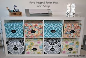 Decorative fabric storage boxes 1