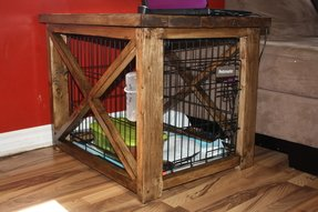 Dog kennel under stairs