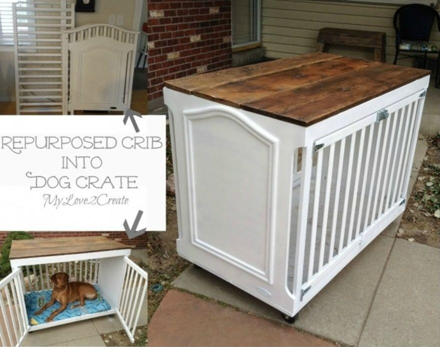 Delightful Double Dog Crate Furniture
