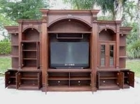 Entertainment centers with bookshelves 2