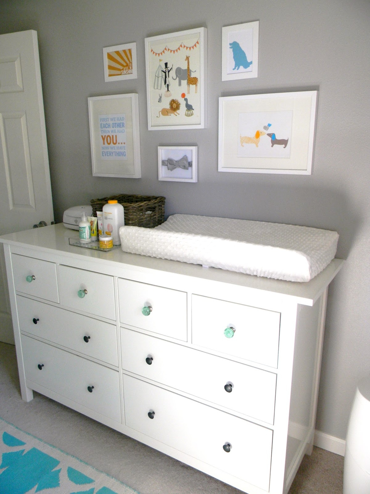 French White Changing Table