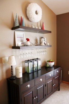Glass Wall Shelves For Living Room - Foter