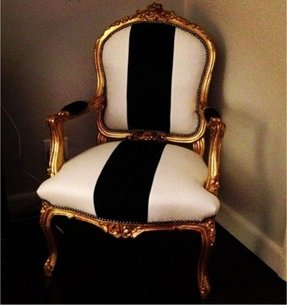 Gold vanity chair 5