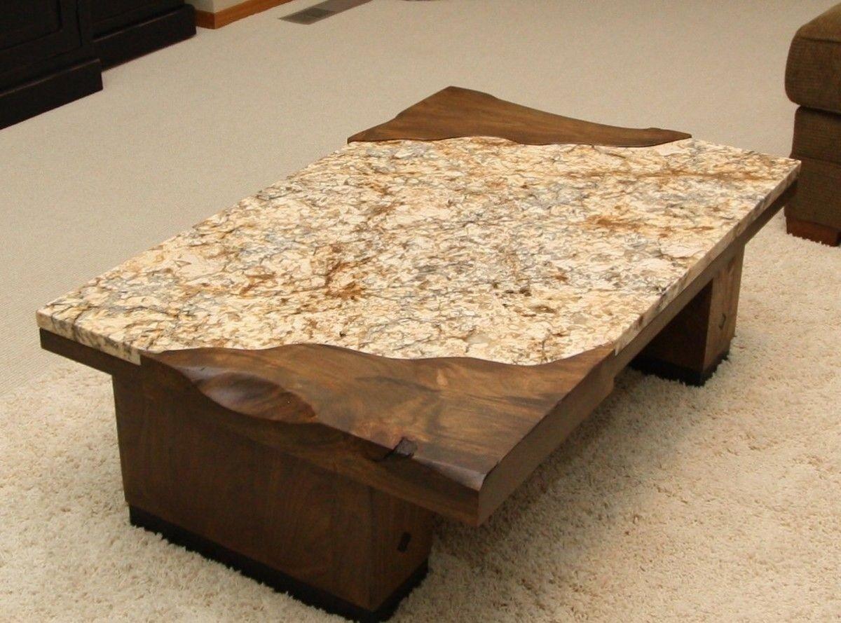 Gentil Granite Top Coffee Table 4