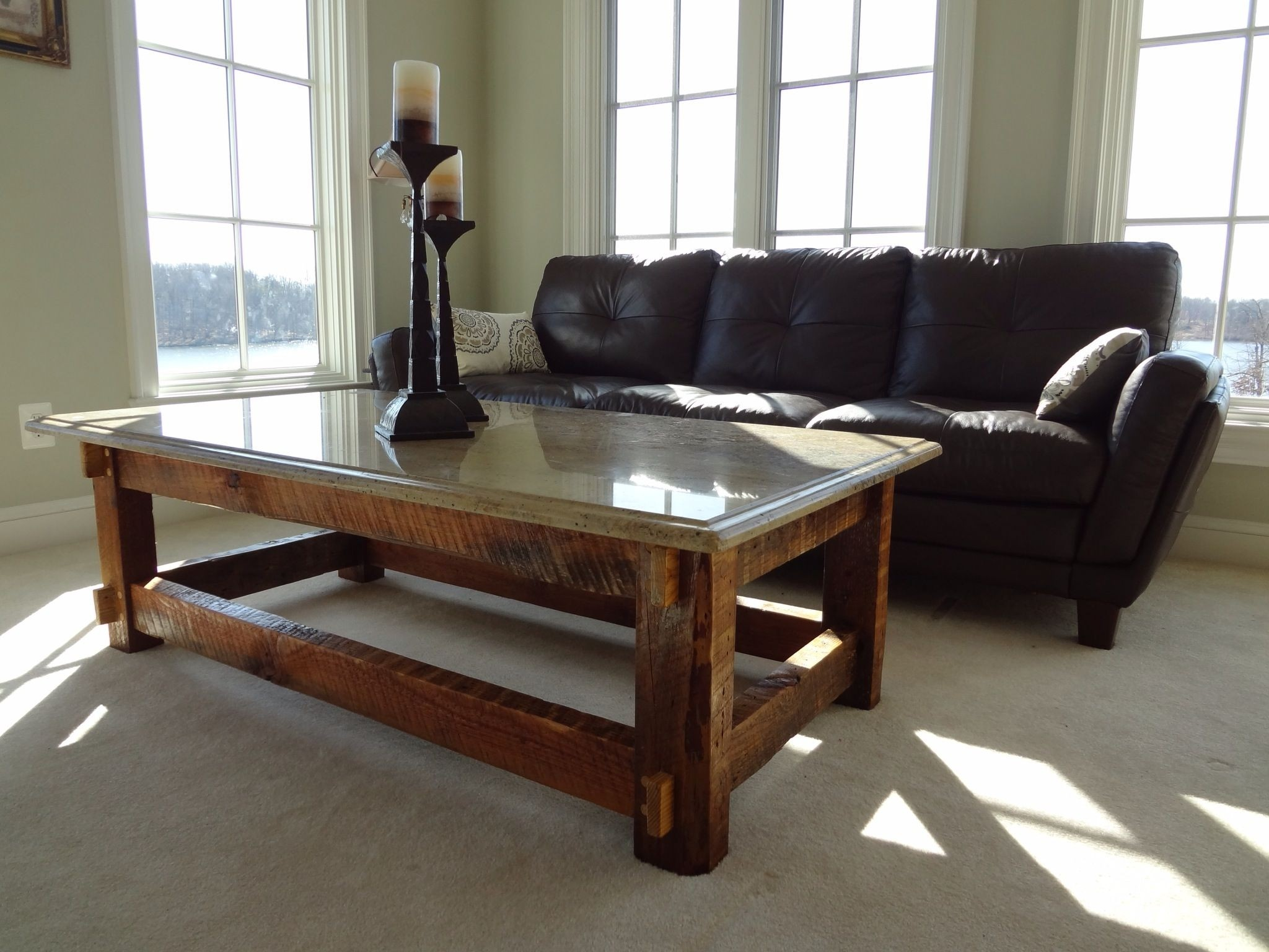 Granite Top Coffee Table Photo2