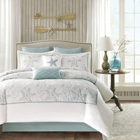 Harbor House 4-Piece Maya Bay Comforter Set, Queen, White