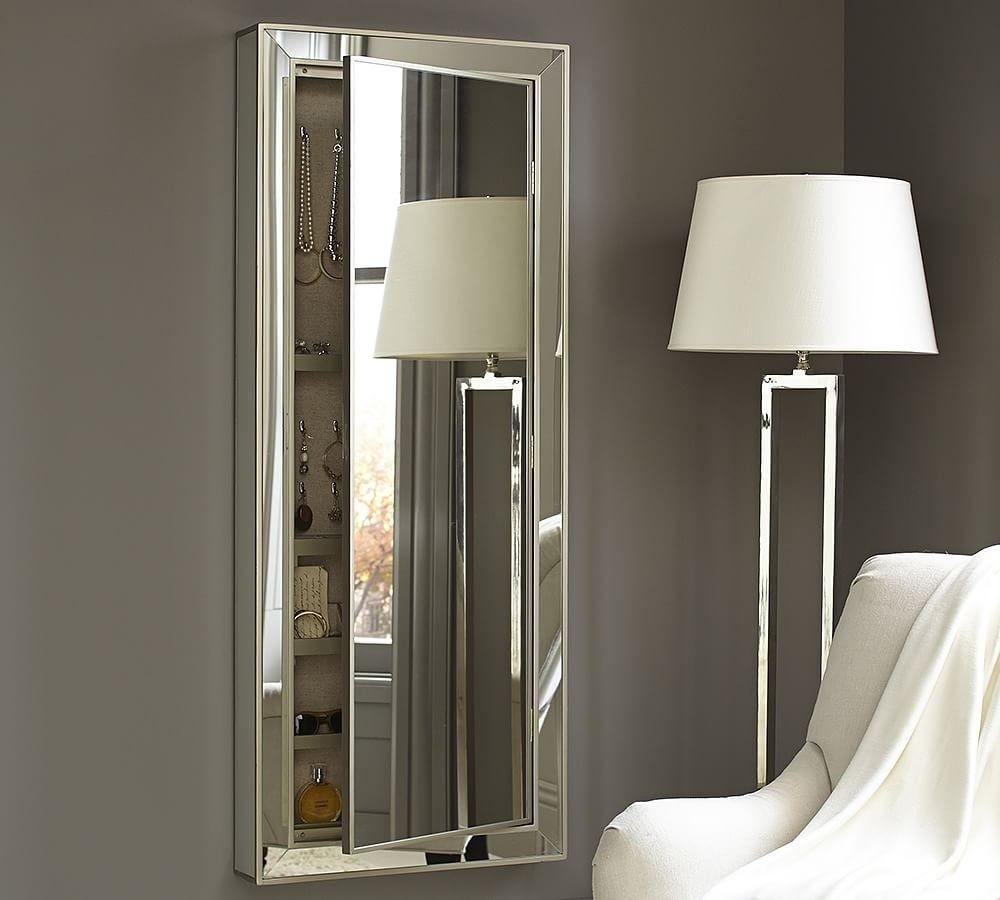 Hidden Jewelry Storage Mirror
