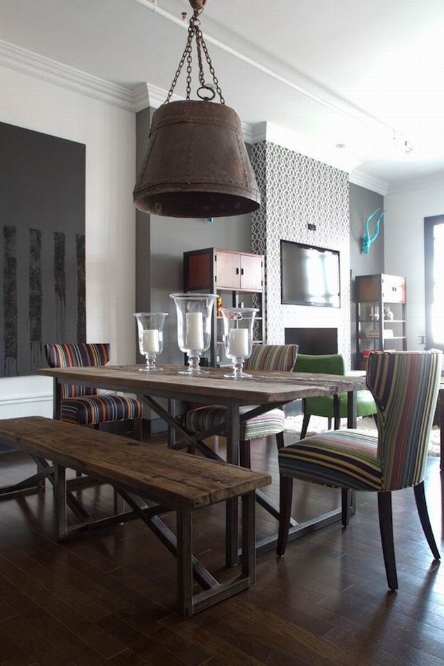 Industrial Style Dining Table 10