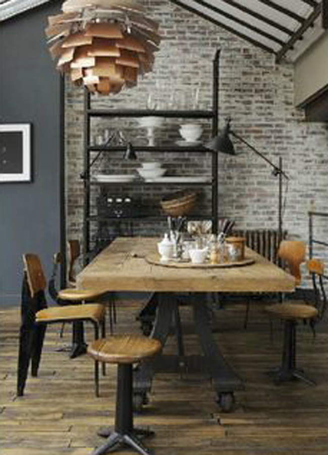 Industrial Style Dining Table 4