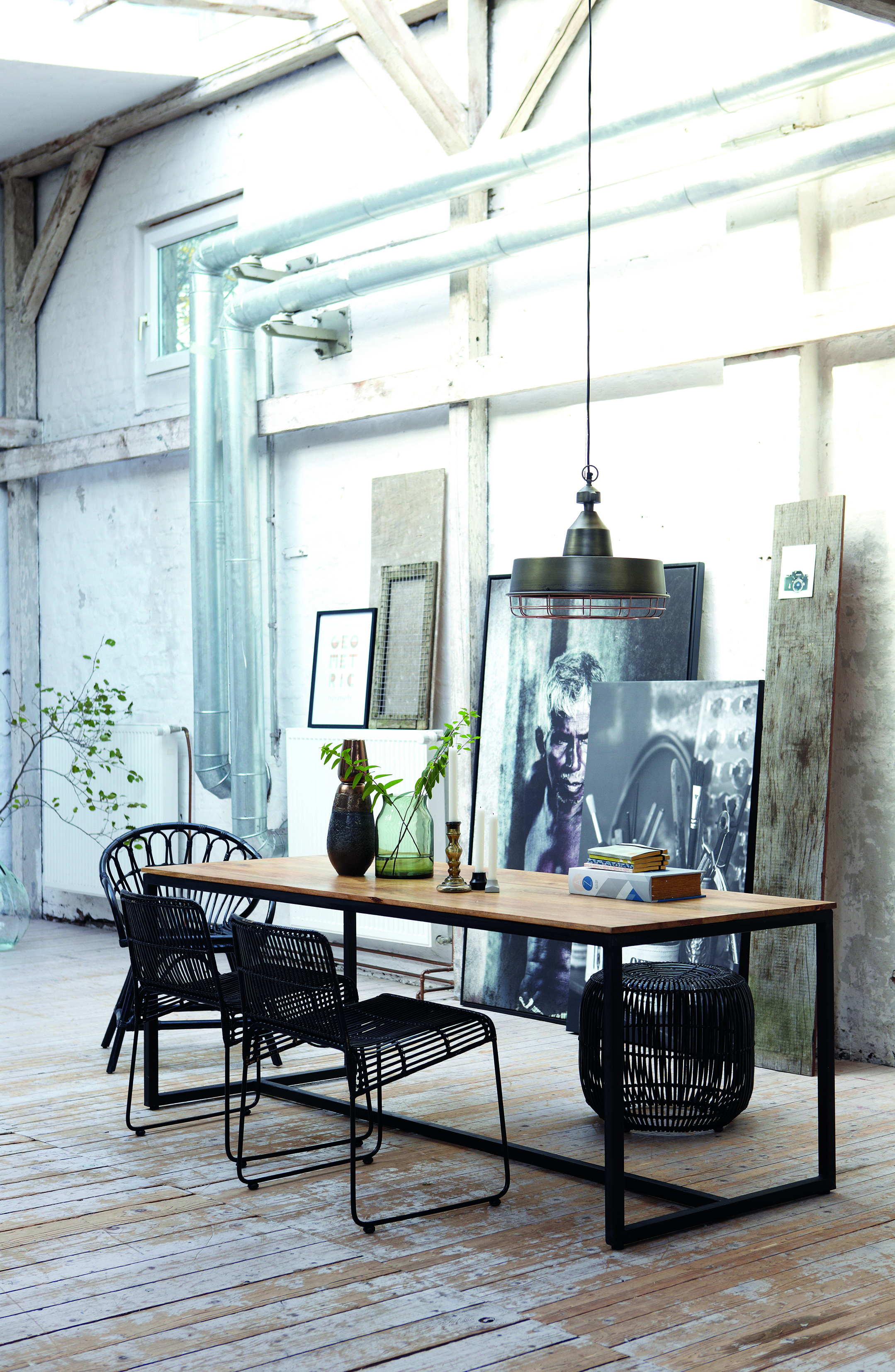 Industrial Style Dining Table 7