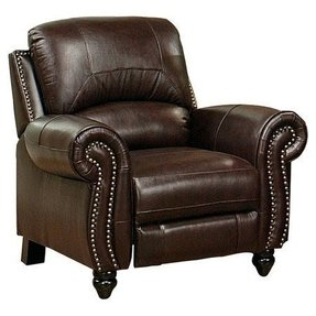 Ivy league style chatham leather recliner