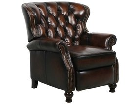 Kentucky derby exeter leather recliner