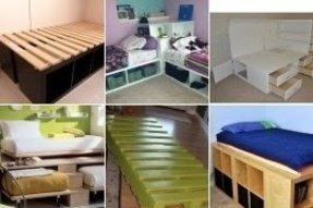 Kids twin platform bed