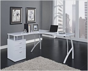 L shaped computer desk with storage 7