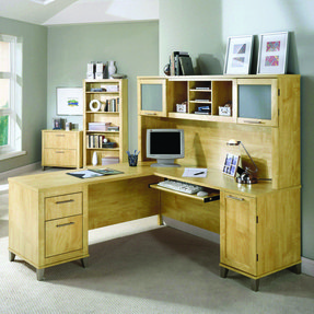 L shaped computer desk with storage