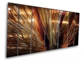 "Large Abstract Metal Wall Art ""ZION"" by Artist Ash Carl"