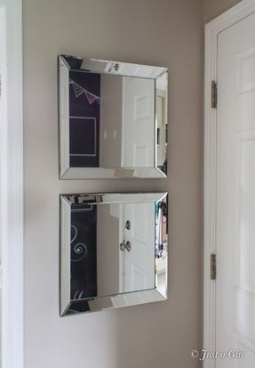 Large bevelled mirror picture frames