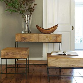 Leather console table