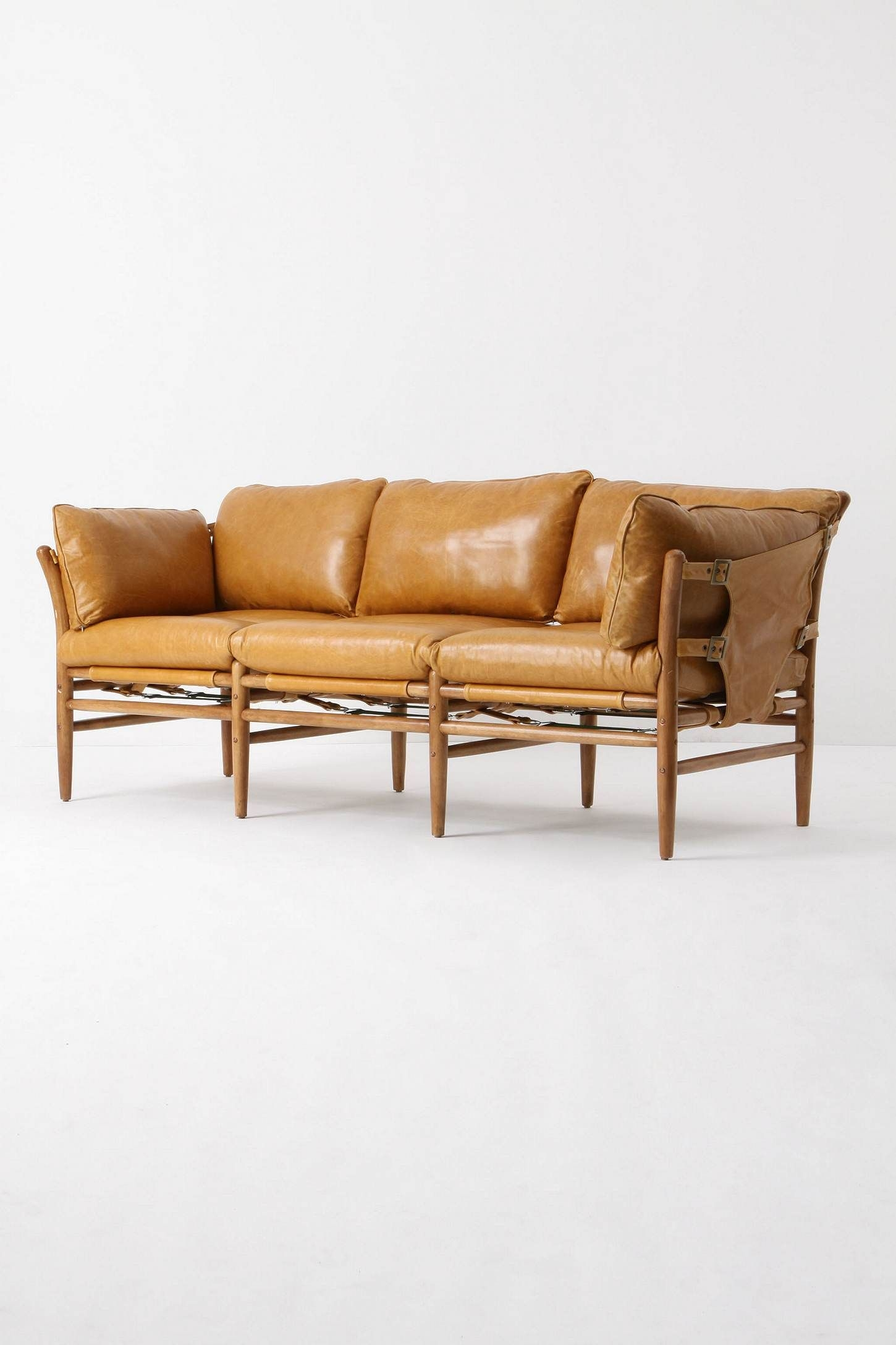 Leather Sofa Yellow