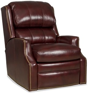 Leather wall hugger recliners