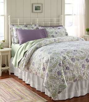 Lime green and blue bedding