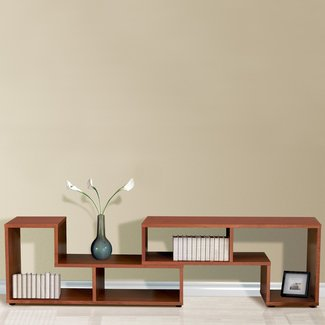 Long low bookcase