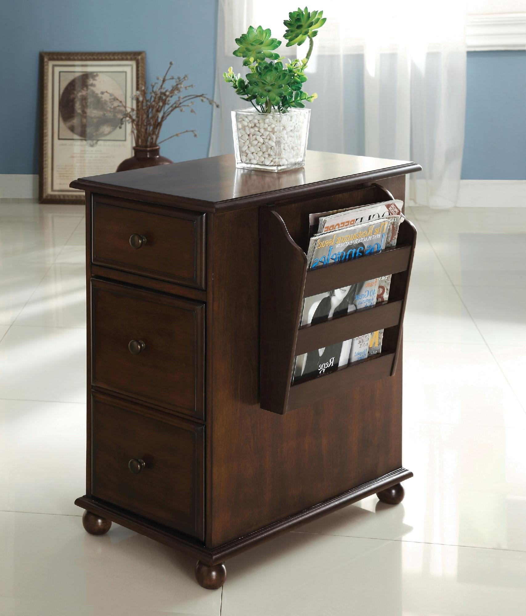 Magazine Rack With Lamp. End Table ...