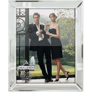 Malden Bevel Mirror Picture Frame, 8-Inch by 10-Inch