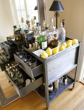 Metal bar cart 1