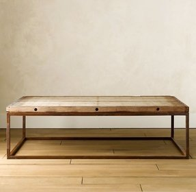 Metal square coffee table 6
