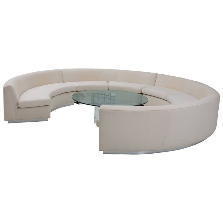 Milo Baughman Circular Sofa 1
