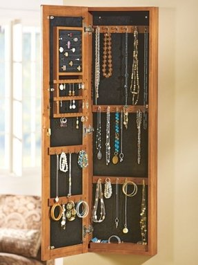 Wall Mounted Jewelry Cabinet With Mirror Foter