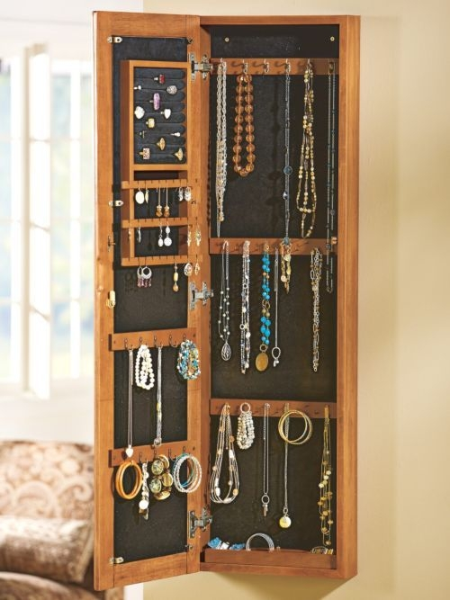 Mirror Jewellery Cabinet Uk. Kimberly Wall Mounted Jewelry ...