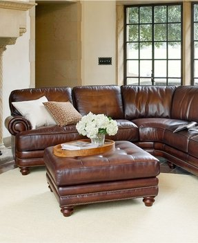 Nailhead sectional sofa
