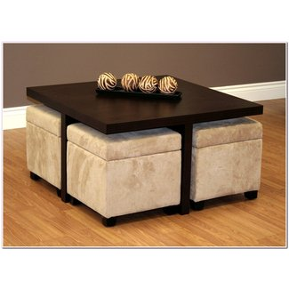Coffee Table Ottoman.Coffee Table With 4 Storage Ottomans Ideas On Foter