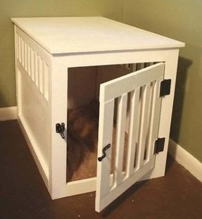 Nightstand dog crate