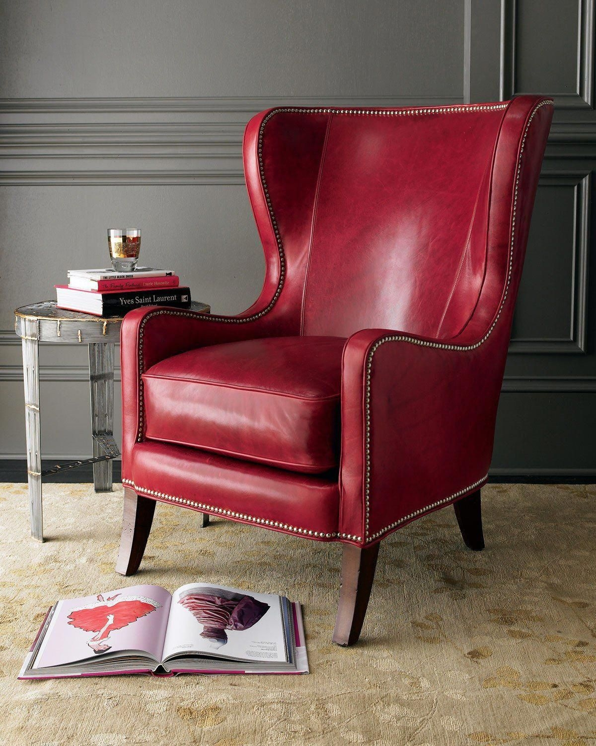 Wonderful Red Leather Chairs