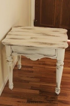 Refurbished End Tables Distressed