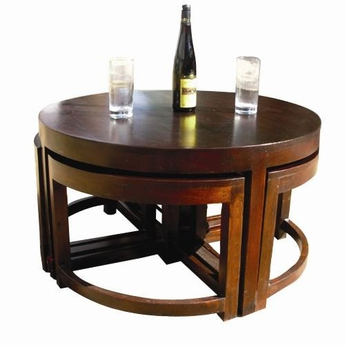 Merveilleux Round Coffee Table With Stools