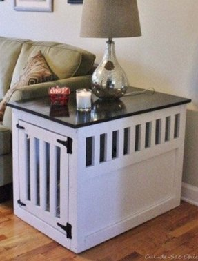 side table dog crate - Dog Crate Side Tables