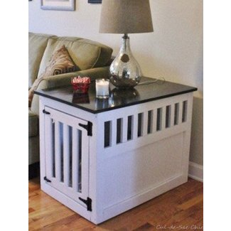 Side table dog crate