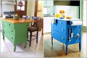 Small kitchen cart with drawers